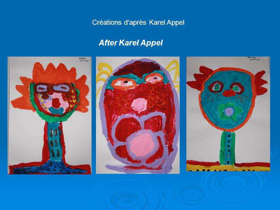Créations daprès Karel Appel After Karel Appel