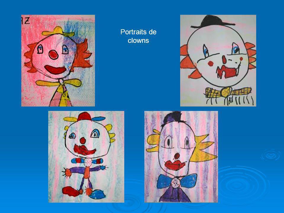 Portraits de clowns