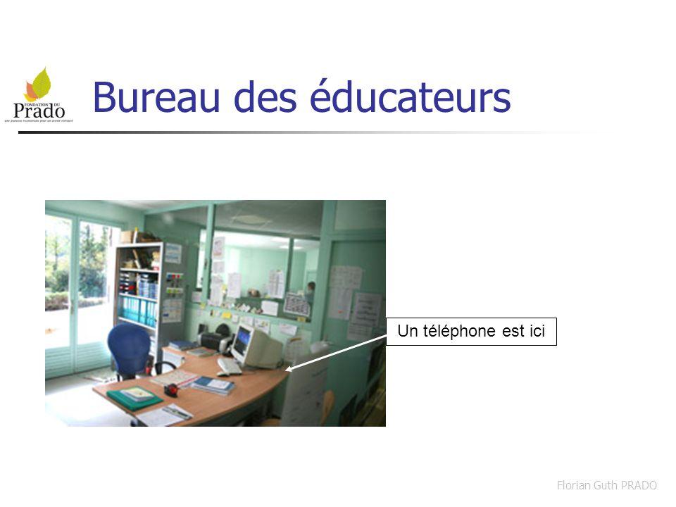 Florian Guth PRADO Bureau des éducateurs Un téléphone est ici