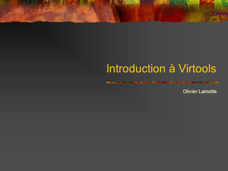 Virtools Media Design 3DS, Maya, Lightwave… Sound Design wav, mp3… Texture, 2D interface jpg, bmp… Specific BB, Interface VSL, Visual C++ Application finale