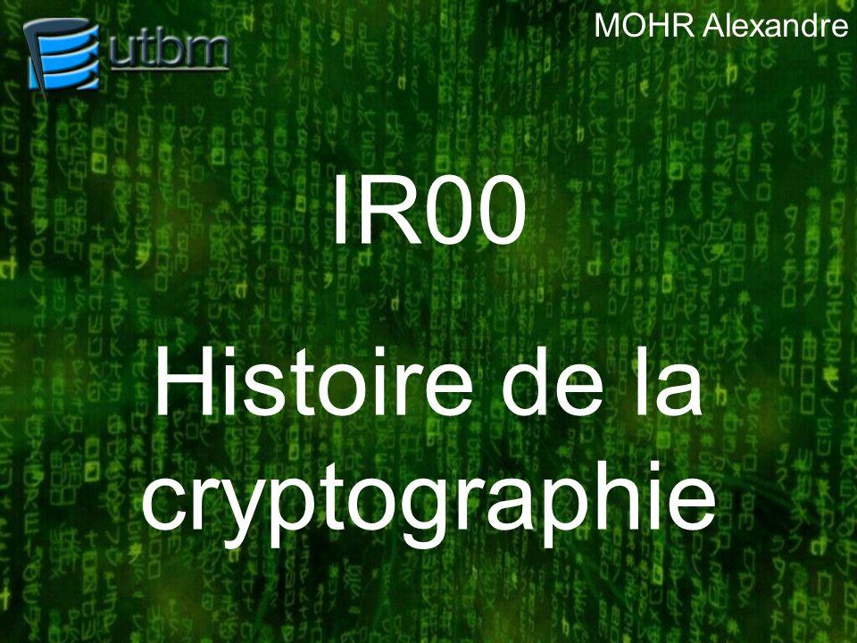 Plan de la présentation I.Pourquoi la cryptographie .