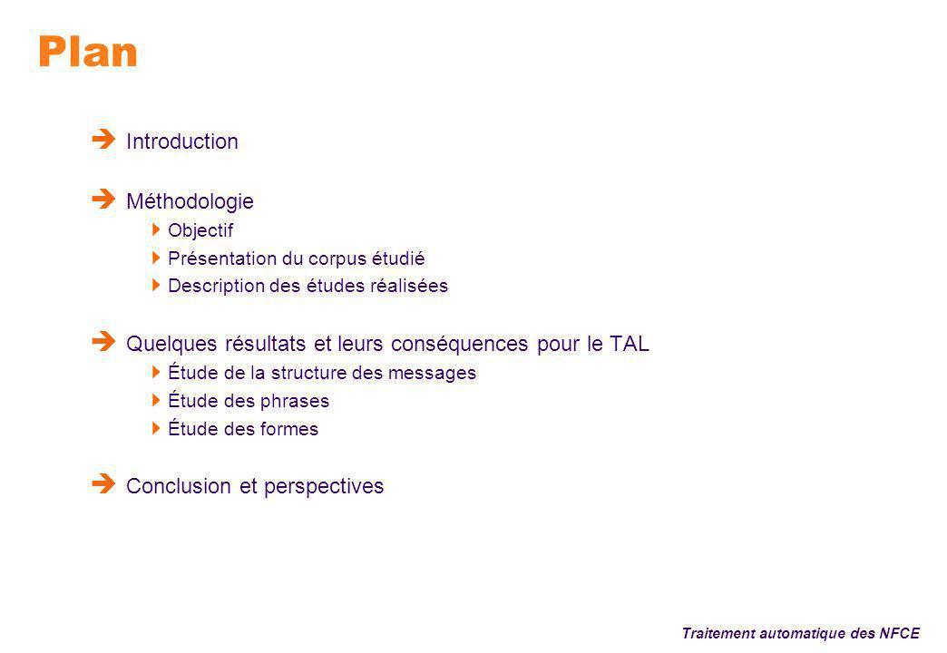 Introduction Traitement automatique des NFCE