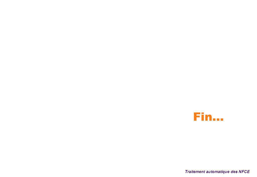 Fin… Traitement automatique des NFCE