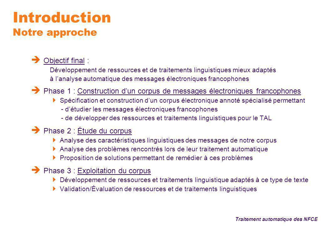 Conclusion Traitement automatique des NFCE