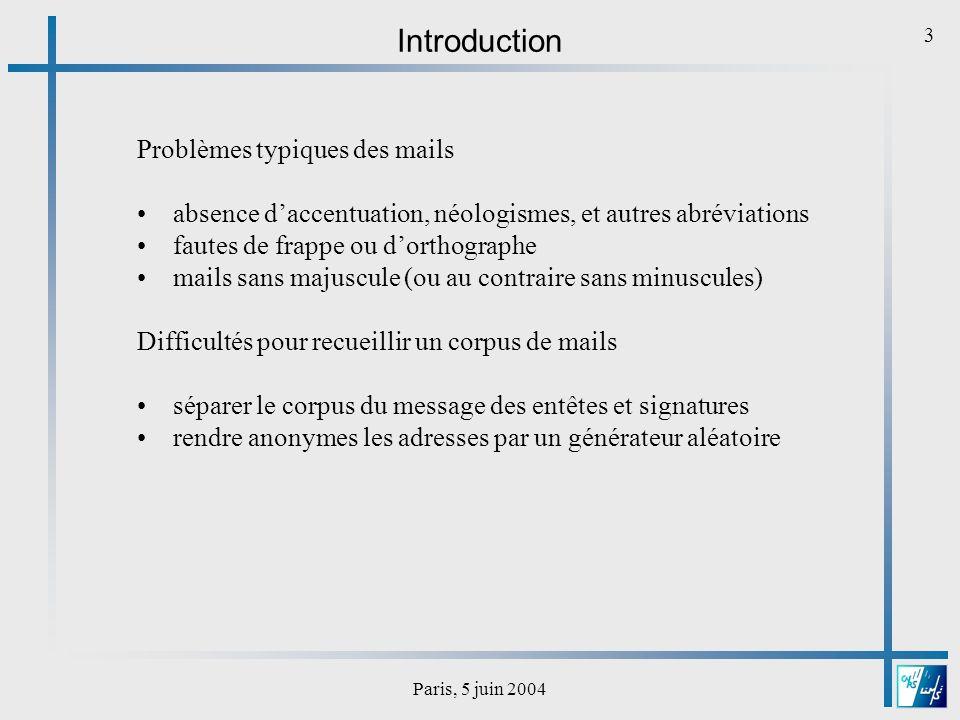Paris, 5 juin 2004 4 Architecture dun système de synthèse vocale