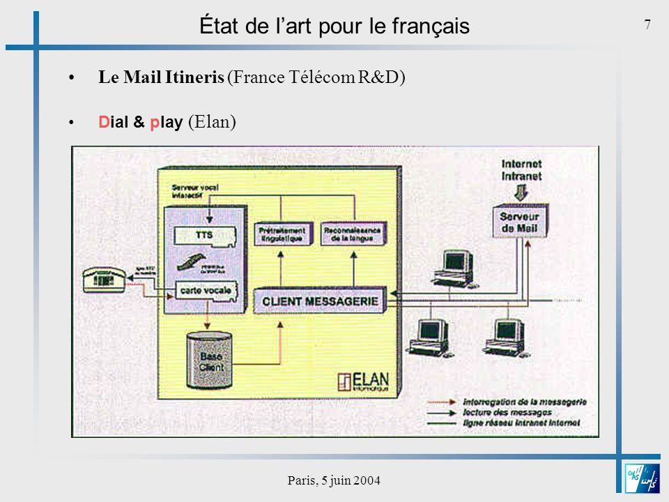 Paris, 5 juin 2004 8 Le système dElan filtre les entêtes et les séparateurs répétés plus de 2 fois opère une réaccentuation partielle prend en compte les heures, les adresses électroniques… Ex.