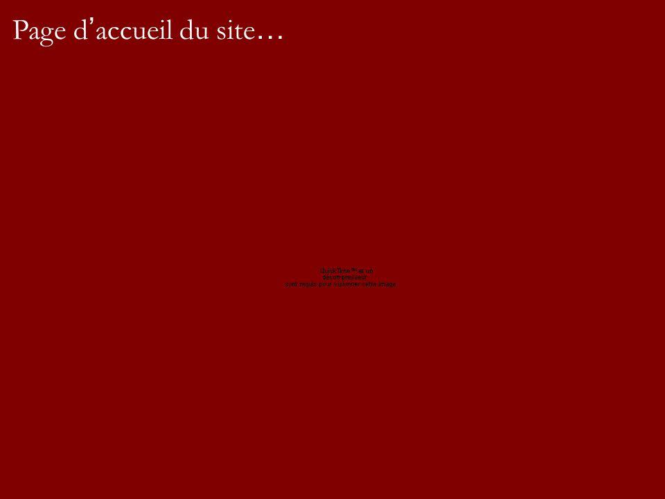 Page d accueil du site …