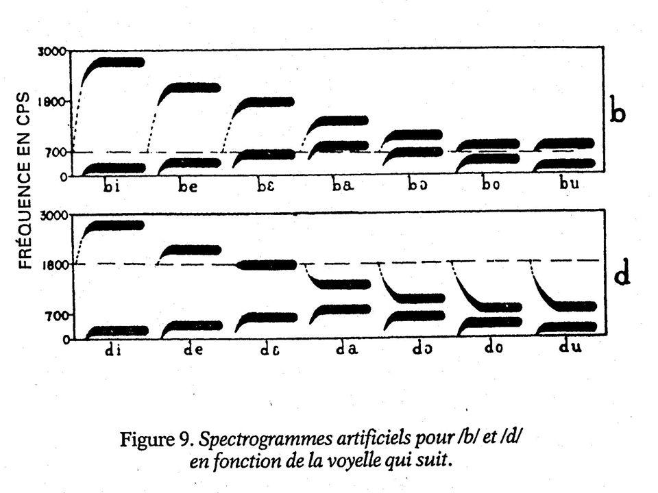 Le phonème est défini en termes articulatoires, alors que les sons de parole arrivent sous forme acoustique - comment établir une relation entre les d