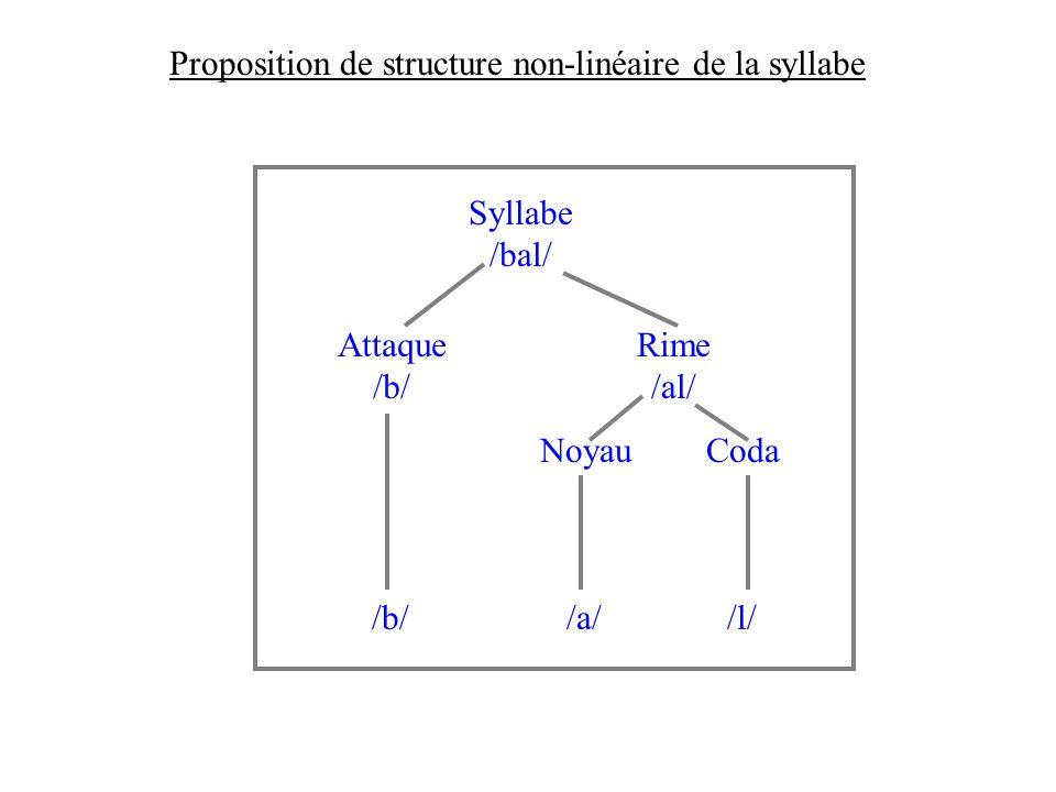 Distribution des indices acoustiques correspondant aux différents segments dune syllabe