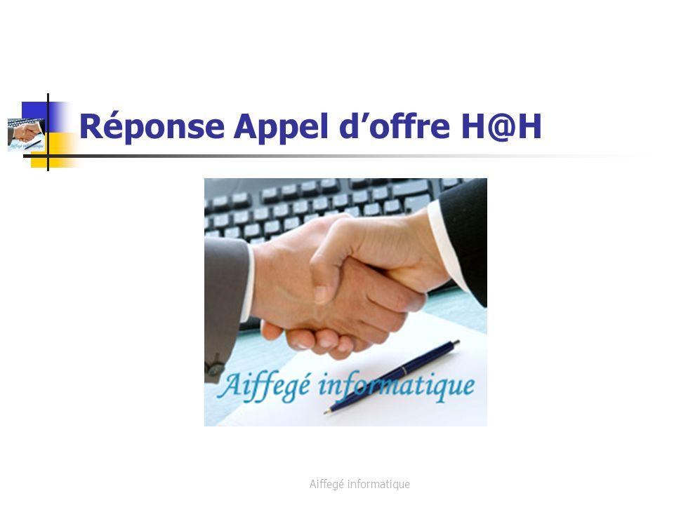 Aiffegé Informatique Sommaire 1)Présentation de Aiffegé informatique 2)Synthèse de lappel doffre 3)Réponse à celle ci