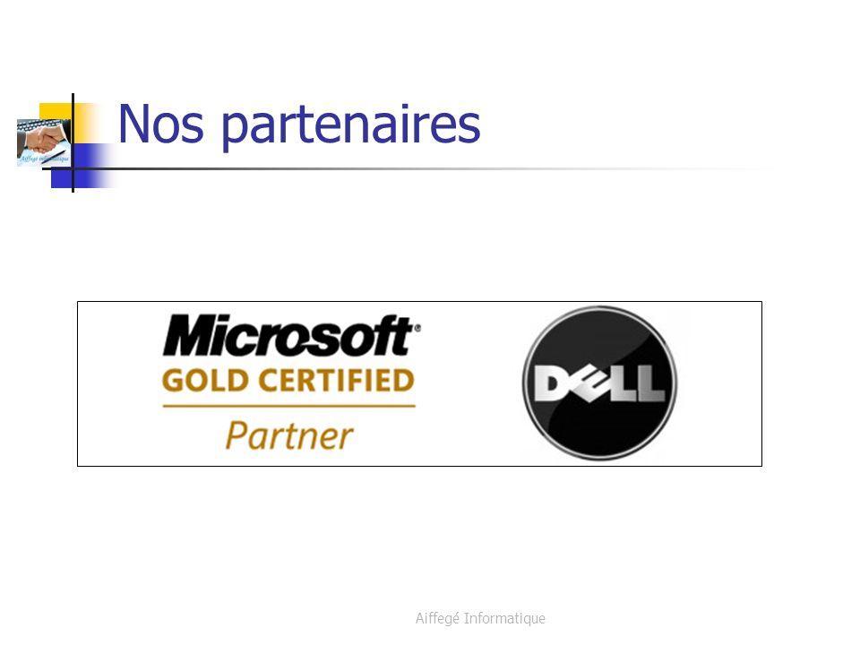 Aiffegé Informatique Nos partenaires