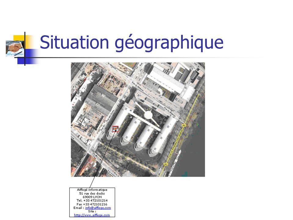 Aiffegé Informatique Situation géographique