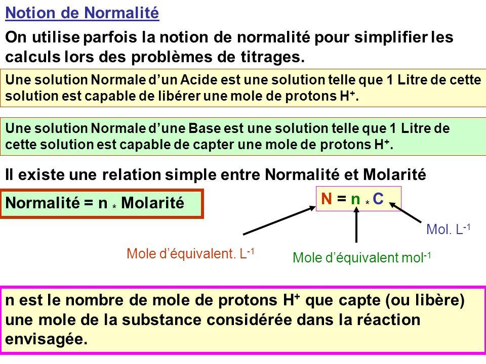 13 b n A = a n B Mais n A = Ca Va et n b = Cb Vb b Ca Va = a Cb Vb Au point équivalent Le Point Equivalent du titrage étant déterminé expérimentalemen