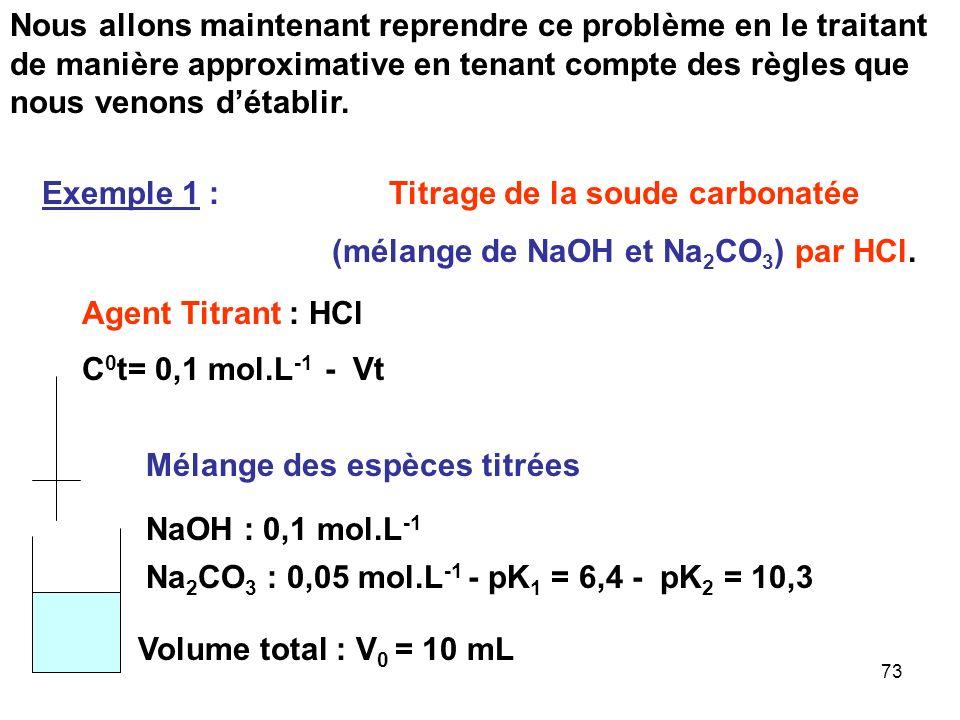 72 K 1 = [HCO 3 - ] [H 3 O + ] / [H 2 CO 3 ] K 2 = [CO 3 2- ] [H 3 O + ] / [HCO 3 - ] K 1 / K 2 = [HCO 3 - ] 2 / [CO 3 2- ] [H 2 CO 3 ] [CO 3 2- ] = 0