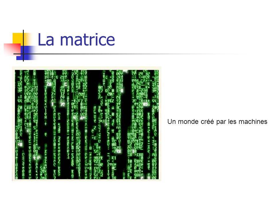 La matrice Un monde créé par les machines