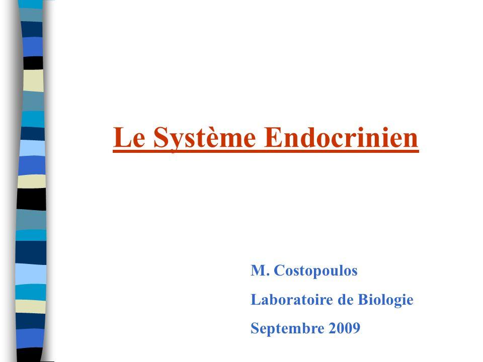 PLAN Organisation générale du système endocrinien Axe hypothalamo-hypophysaire La thyroide Les glandes surrénales Le pancréas Les hormones sexuelles Autres glandes