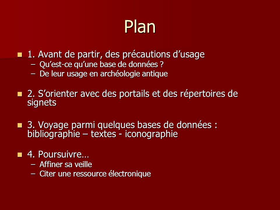 Plan 1. Avant de partir, des précautions dusage 1.