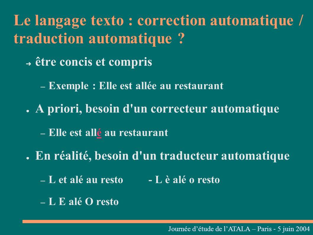 Etape 3 : Génération du texte cible Journées linguistiques du Centre L.
