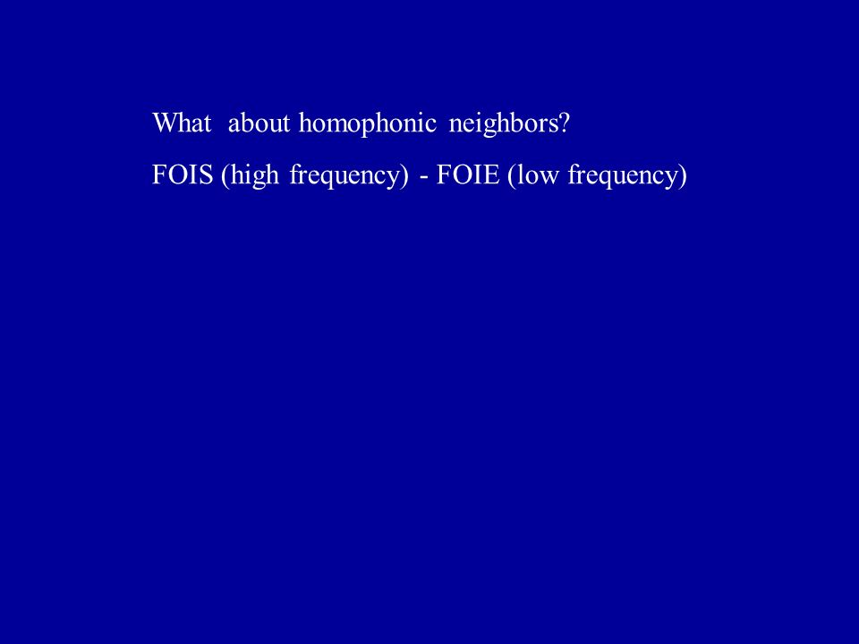 What about homophonic neighbors? FOIS (high frequency) - FOIE (low frequency)