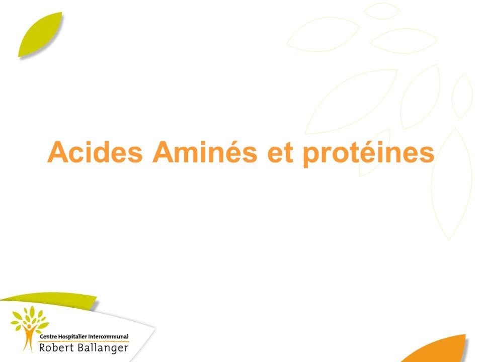 Acides Aminés et protéines
