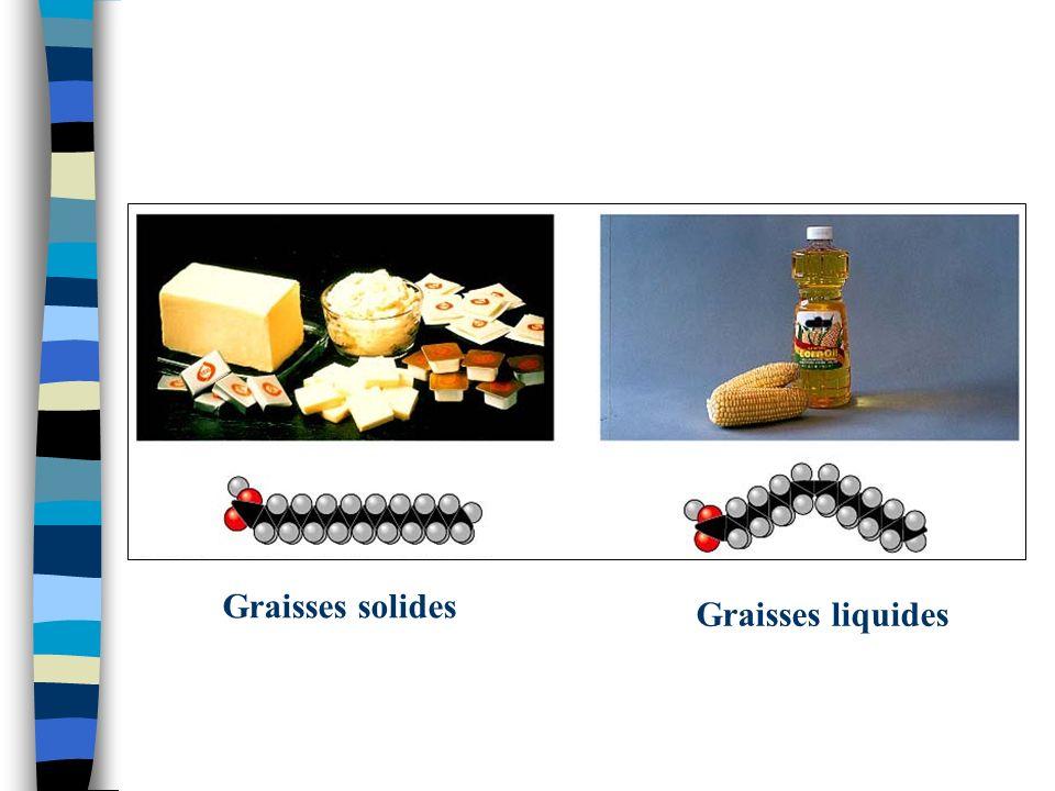 Graisses solides Graisses liquides