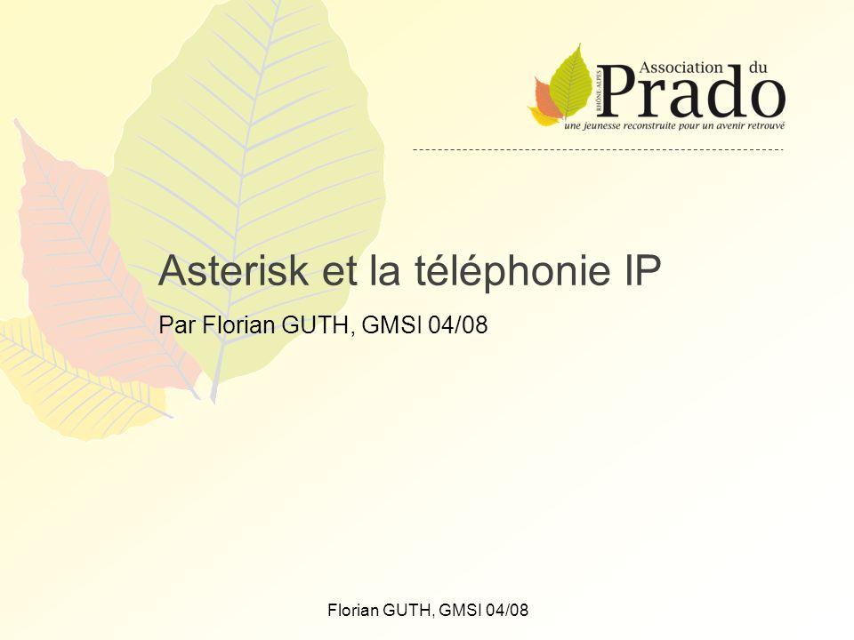 Florian GUTH, GMSI 04/08 Asterisk et la téléphonie IP Par Florian GUTH, GMSI 04/08