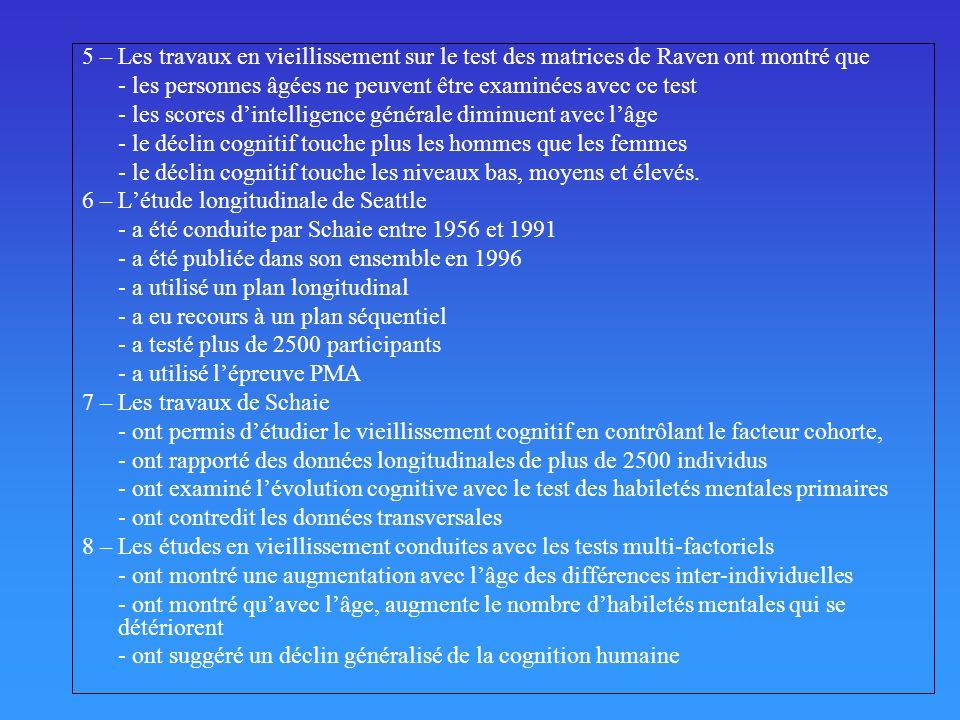Liste des épreuves verbales à la WAIS-R Information (29 items) Répondre à des questions dinformations générale « Où est la Finlande .