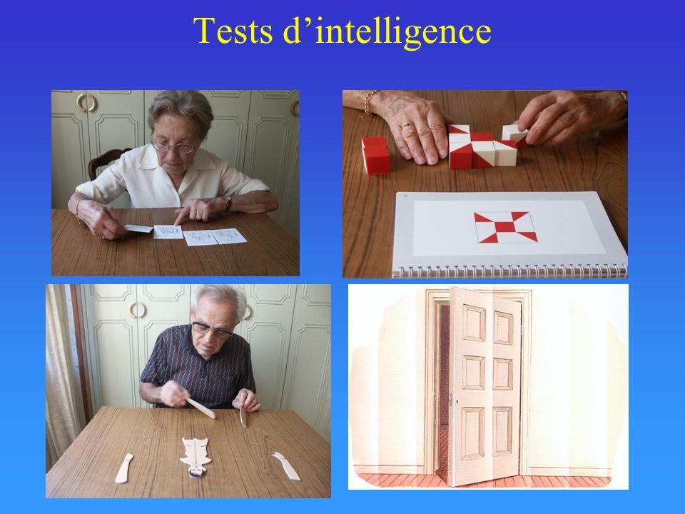 QCM – Chapitre 2 1 – Les tests suivants sont des tests uni-factoriels - le test des matrices de Raven - le test de la WAIS-R - le test PMA -Le test des champignons 2 – Un test uni-factoriel est un test qui - a été mis au point pour tester les facteurs de La Poste - mesure lintelligence avec une seule épreuve - considère lintelligence comme reflétant plusieurs capacités corrélées - peut être administré en 40 minutes - attribue un rôle central au langage dans lintelligence 3 – Un test multi-factoriel - considère que lintelligence comporte diverses facettes - comprend toujours des mesures dintelligence verbale et non verbale - a une fidélité test-retest plus importante quun test uni-factoriel - donne une évaluation complète de lintelligence.