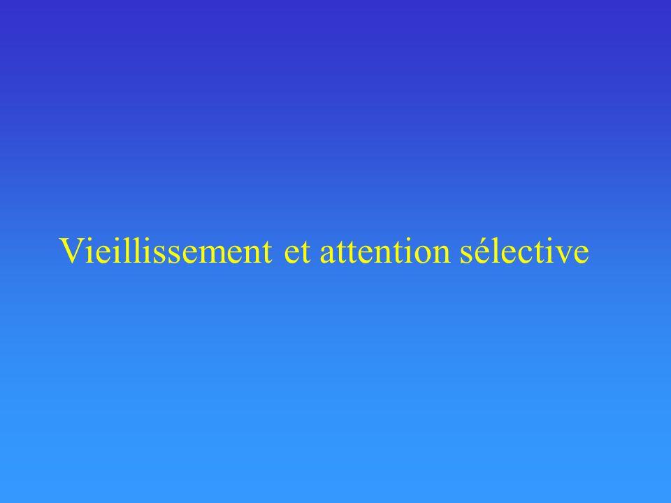 Vieillissement et attention soutenue/concentration Capacité à rester concentré, à focaliser son attention sur une même source pendant une certaine durée.