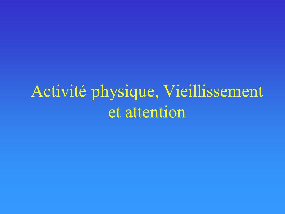 Activité physique, Vieillissement et attention