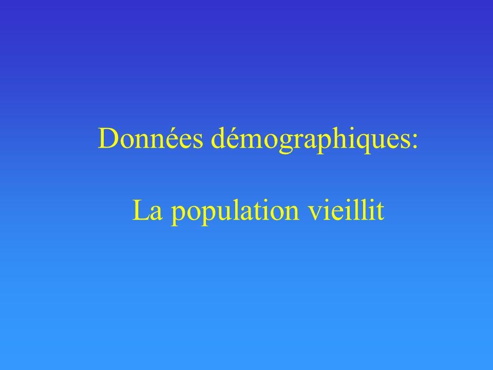 Données démographiques: La population vieillit
