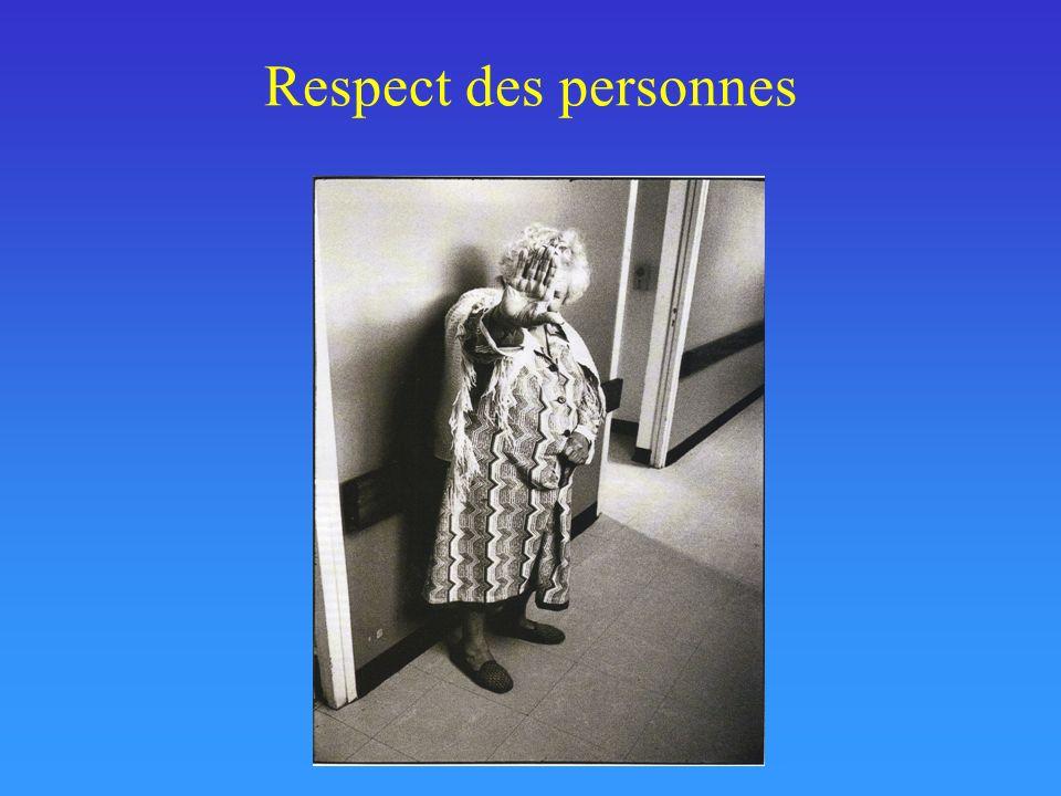 Respect des personnes