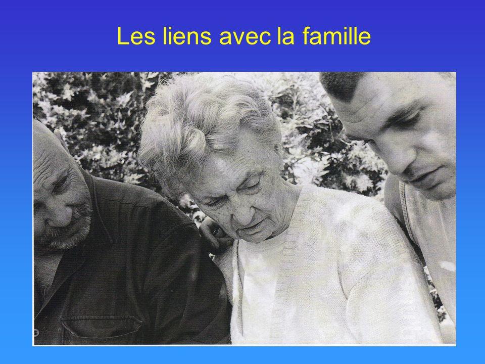 Les liens avec la famille