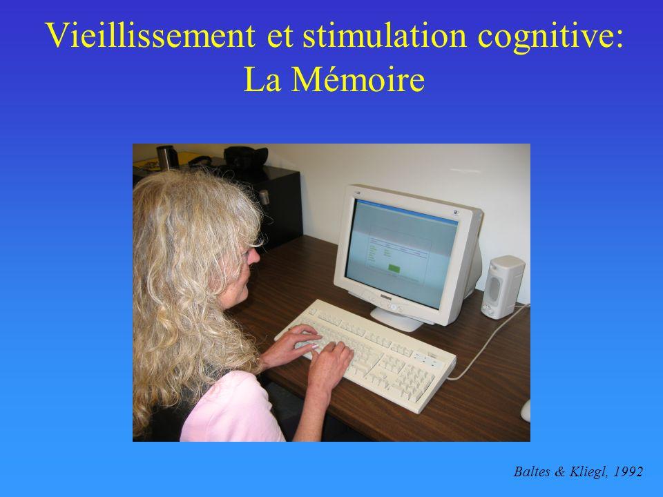 Vieillissement et stimulation cognitive: La Mémoire Baltes & Kliegl, 1992