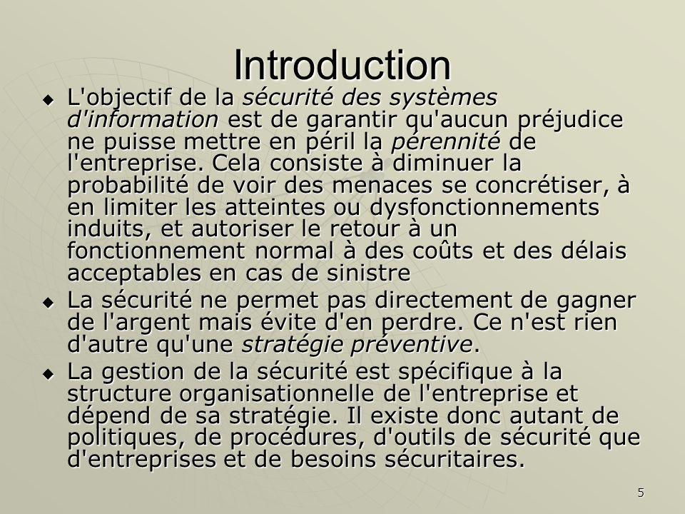 6 Plan du chapitre 1.Les enjeu de la sécurité 1.Les enjeu de la sécurité 1.1Notion de sinistre1.1Notion de sinistre 1.2 Notion de risques1.2 Notion de risques 2.Concept de sécurité des SI 2.Concept de sécurité des SI 3.
