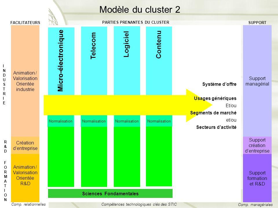 Logiciel Telecom Micro-électronique Contenu Normalisation Sciences Fondamentales Animation / Valorisation Orientée R&D Support formation et R&D Comp.