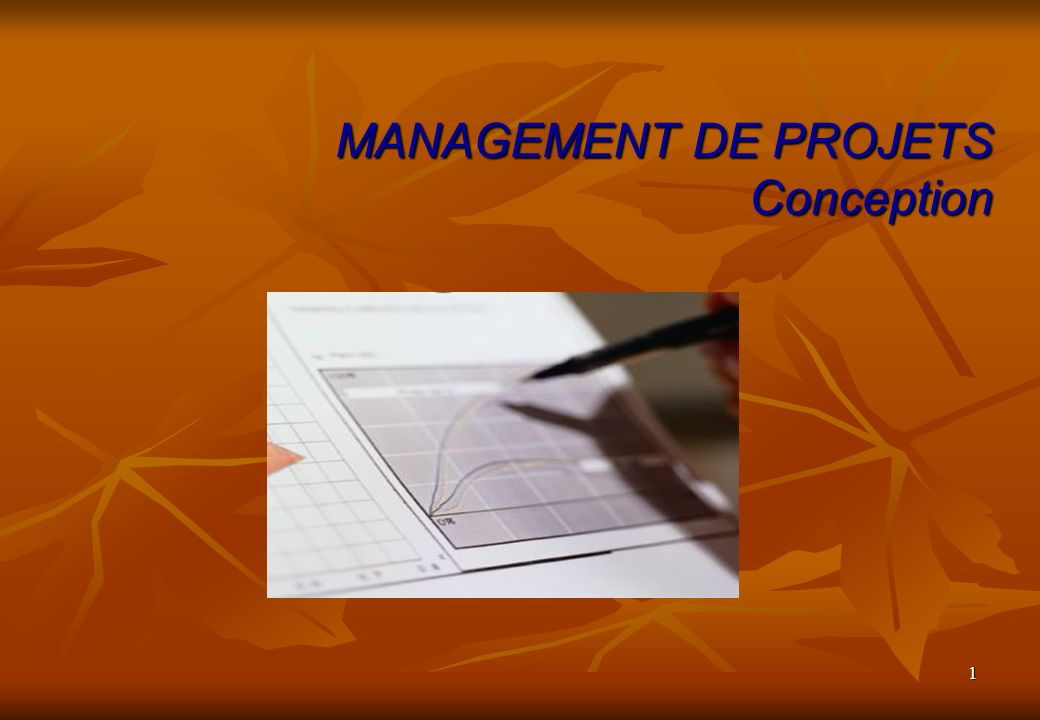 1 MANAGEMENT DE PROJETS Conception