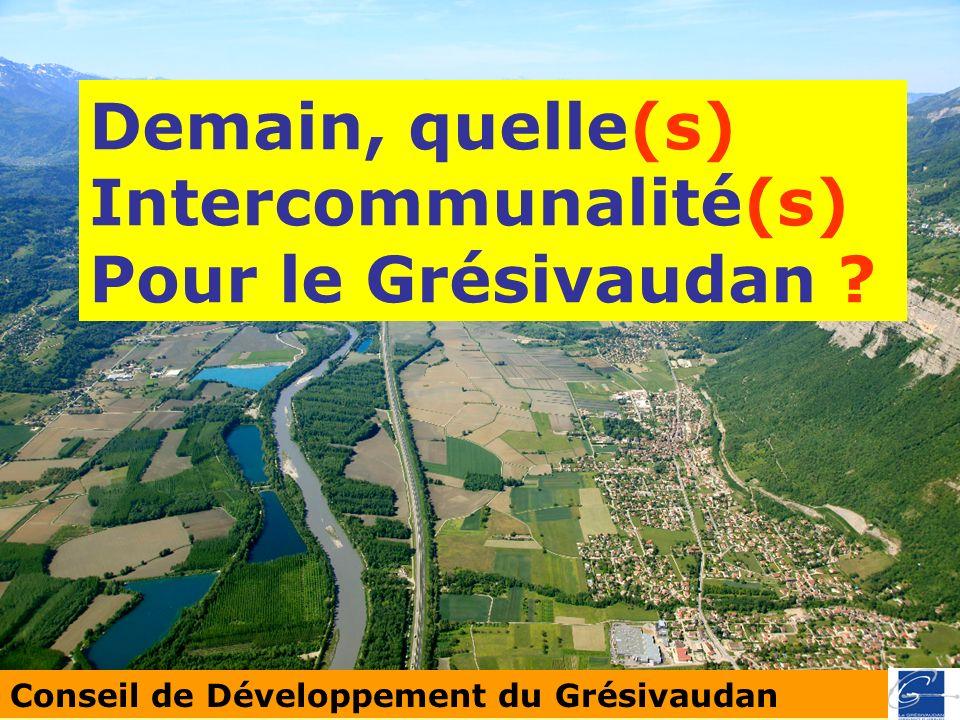 Conseil de Développement du Grésivaudan Demain, quelle(s) Intercommunalité(s) Pour le Grésivaudan ?