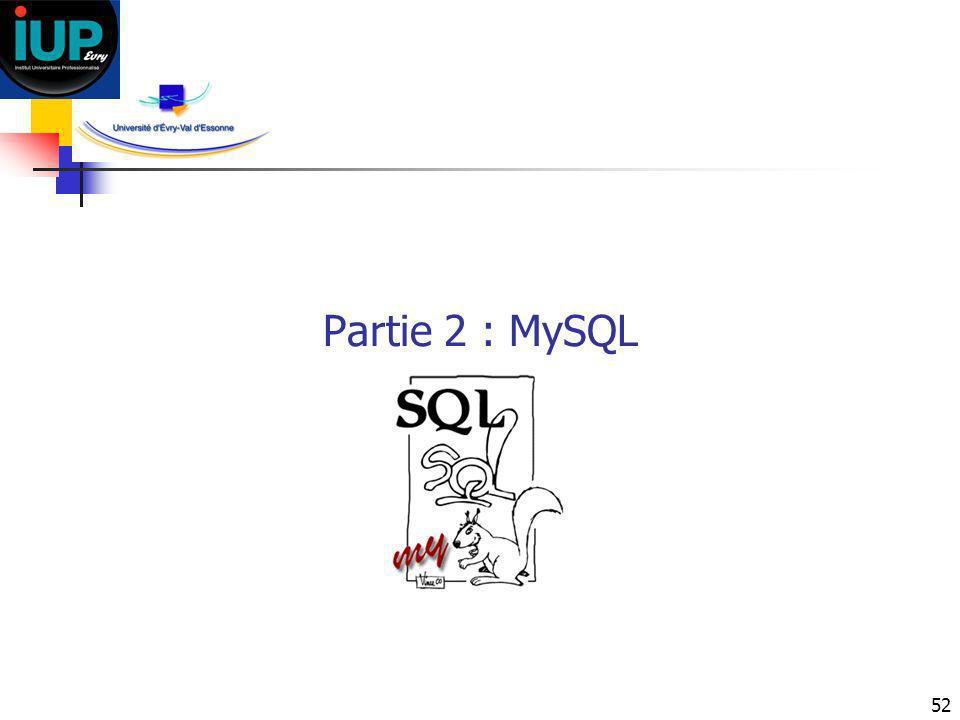 52 Partie 2 : MySQL