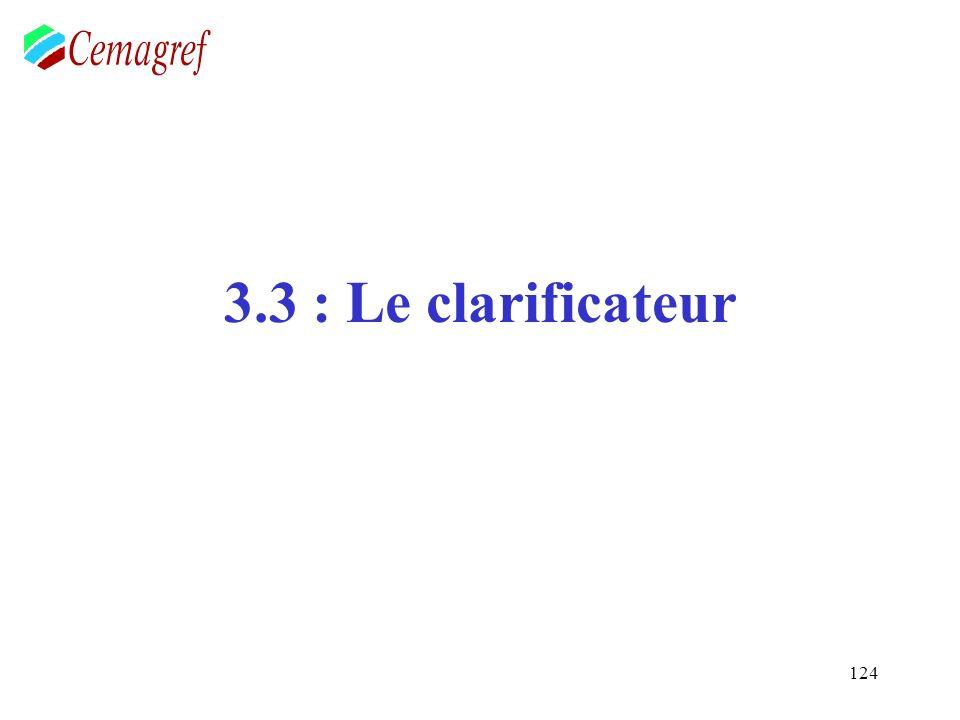 124 3.3 : Le clarificateur