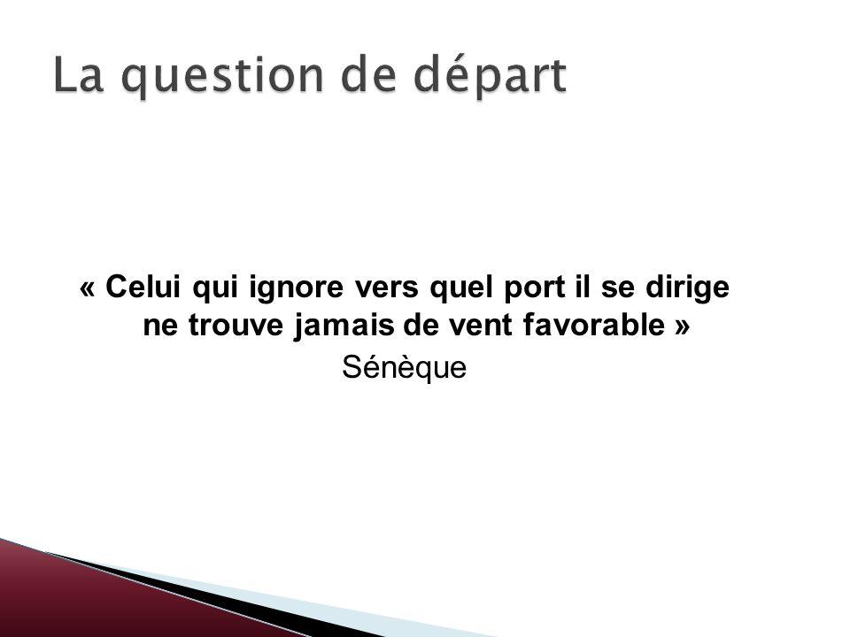 « Celui qui ignore vers quel port il se dirige ne trouve jamais de vent favorable » Sénèque