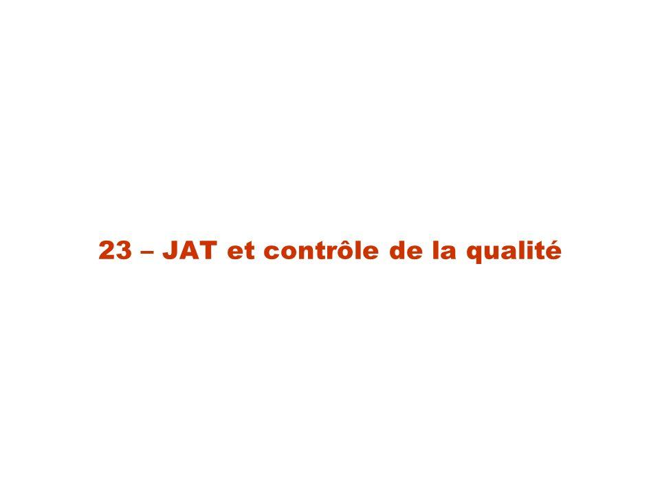 23 – JAT et contrôle de la qualité