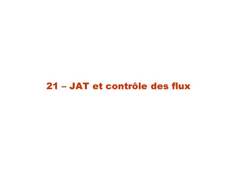 21 – JAT et contrôle des flux