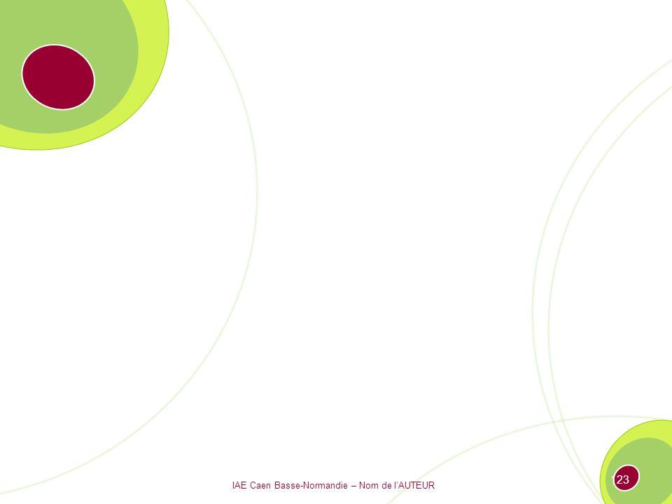 IAE Caen Basse-Normandie – Nom de lAUTEUR 122 Prédominance des FONCTIONS Prédominance des PRODUITS ou des PROJETS Structure fonctionnelle Structure matricielle Structure divisionnelle Le continuum des types de structures Les différents types de structures