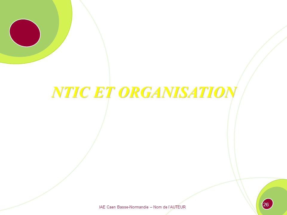 IAE Caen Basse-Normandie – Nom de lAUTEUR 125 Les structures dorganisation 3.1 Définition de la structure 3.2 Les différents types de structures : panorama des organigrammes 3.3 Les nouvelles formes dorganisation des entreprises
