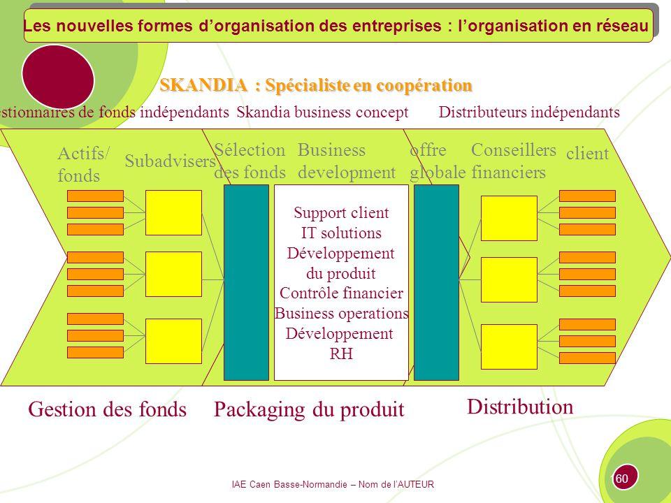 IAE Caen Basse-Normandie – Nom de lAUTEUR 159 Leif Edvisson, Directeur du capital intellectuel Le cas Skandia Skandia AFS (Assurance and Financial Services), spécialisée dans les fonds de pension, opère dans 14 pays en dehors de la Scandinavie.