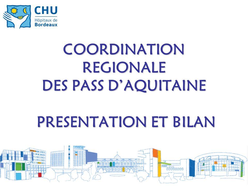 COORDINATION REGIONALE DES PASS DAQUITAINE PRESENTATION ET BILAN
