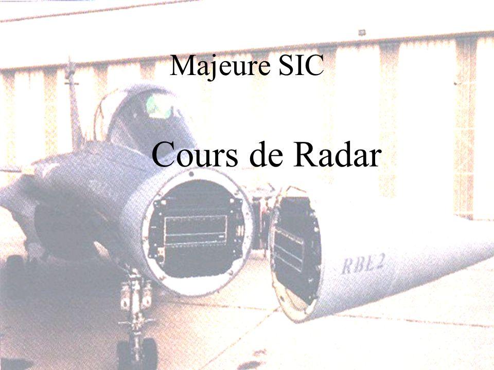 Majeure SIC Cours de Radar