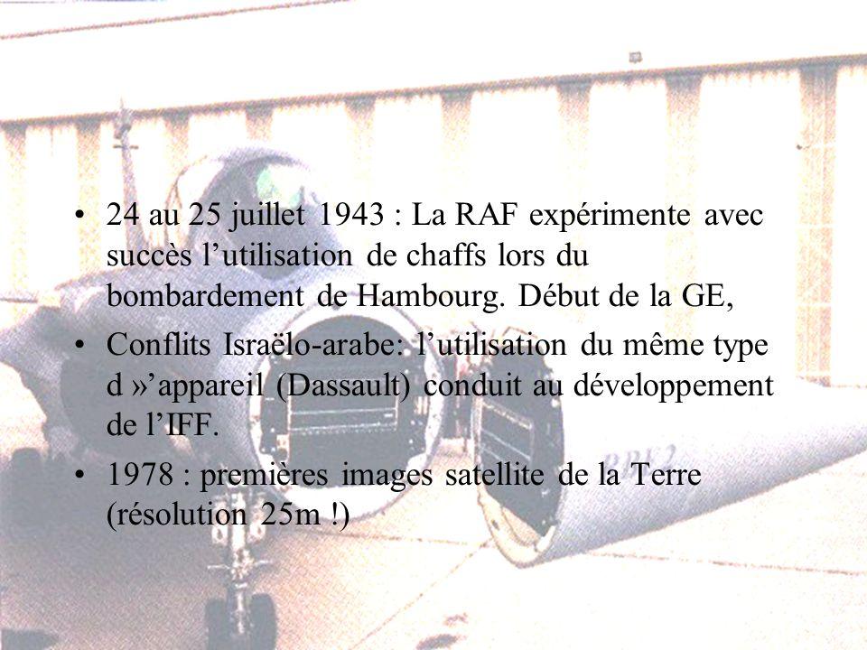 24 au 25 juillet 1943 : La RAF expérimente avec succès lutilisation de chaffs lors du bombardement de Hambourg.