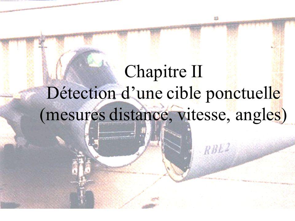 Chapitre II Détection dune cible ponctuelle (mesures distance, vitesse, angles)